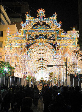 """日本神户灯饰节""""光的纽带""""于6日开幕"""