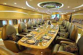 世界最大的私人飞机揭秘.无限奢华的空中宫殿