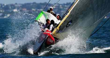 驾驶帆船横顺风直线驶操作技术