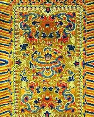 风雨飘摇的宫廷织毯:最难拴栽绒结