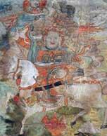 藏传佛教五当召寺藏200余幅清代唐卡得修复