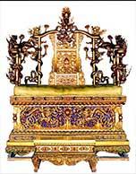 髹金漆云龙纹宝座 故宫最显赫的椅子