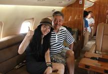赵本山私人飞机首接女明星
