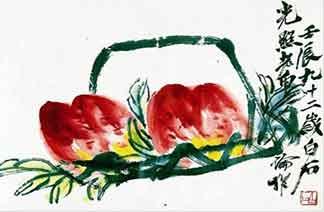 齐白石《双寿图》下月拍卖
