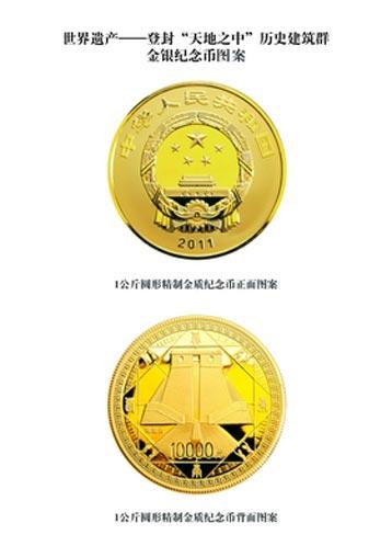 历史建筑群金银纪念币
