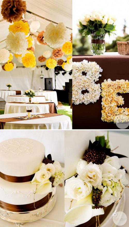 冬季棕色黄色主题婚礼