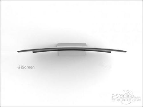 苹果电视概念设计iScreen炫酷弧形玻璃屏