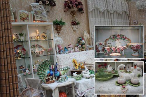"""图为:""""欧戈""""家饰刮来一阵浪漫的欧美田园风,百搭的布艺和瓷器是他家的主题曲"""
