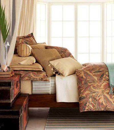 用暖色床品给入秋卧室换新装