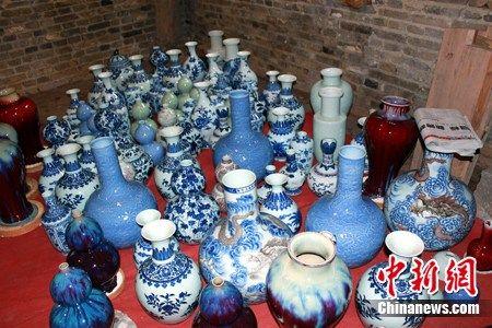 景德镇明代葫芦窑成功复烧后出窑的陶瓷。 孙佳泽 摄